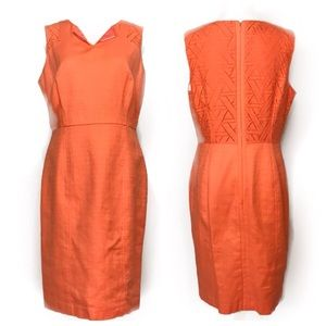 NWOT Covington Orange sleeveless day sheath dress.